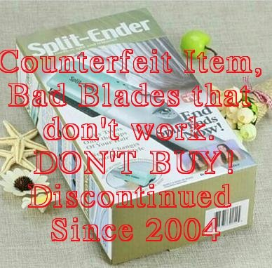 COUNTERFIT OF THE OLD CONSUMER SPLIT ENDER - DISCOUNTINUED IN 2004 - DOES NOT WORK